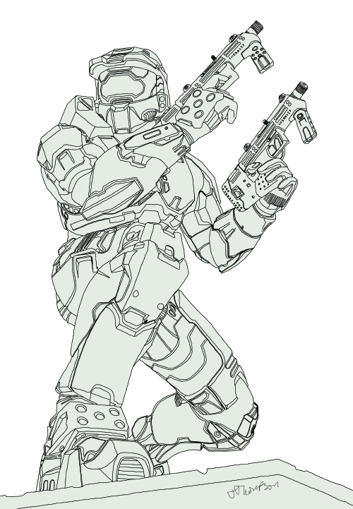 Master Chief Sketch Google Search Sketches Drawings