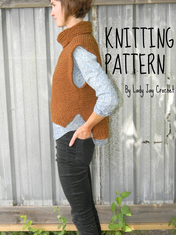 Photo of PATTERN: Como Vest | DIY easy knit poncho with cowl | Knit vest with cowl pattern | Adult knit pullover | Knit cowl pattern |