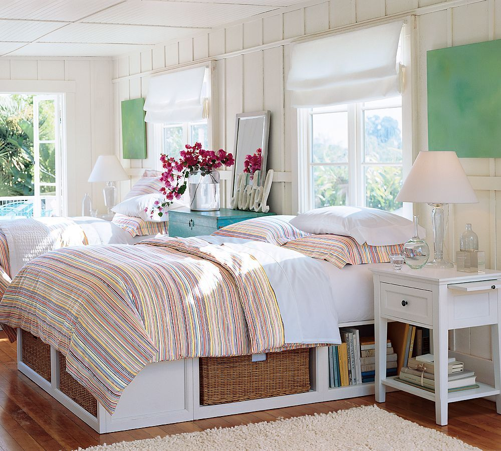 Beach Bedroom Furniture: Decoration Country White Scheme