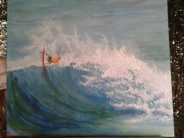 AUTOR... Irma Alicia Gastelum'Lga. TITULO...Surf (2) TÉCNICA...Acrilico/tela MEDIDA...70 X 80 cm. vendido