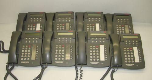 Lot Of 8 Avaya Lucent 6408D Digital Display Business Phones