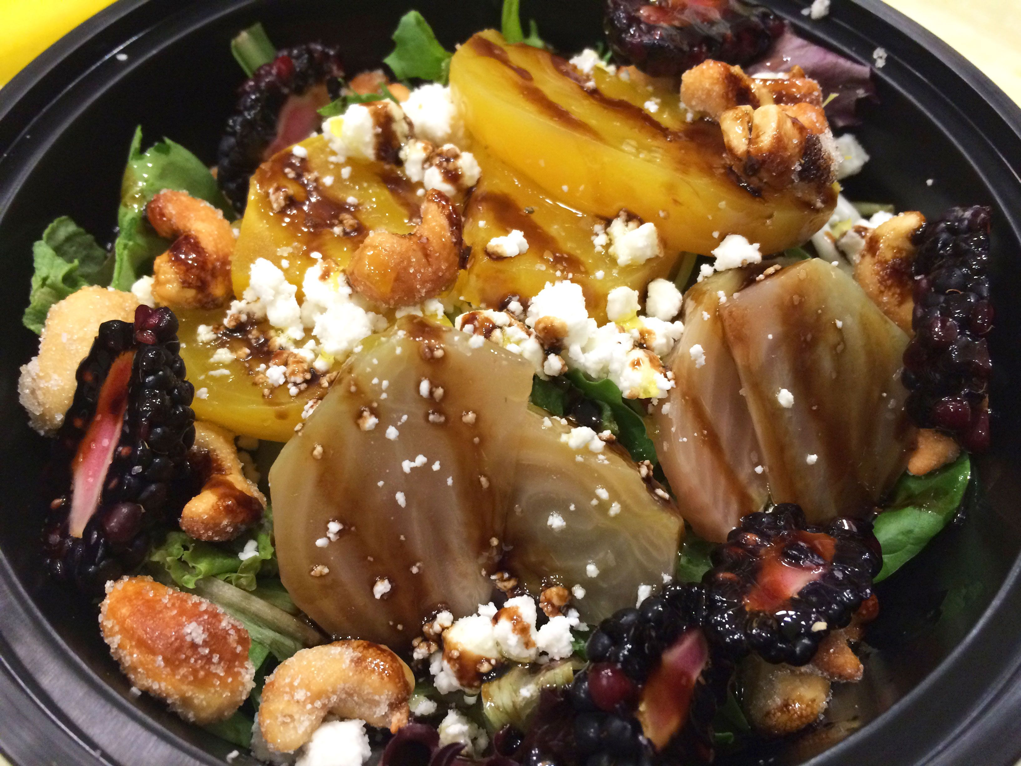 Beet Salad from OLiV Tasting Room & Bistro - located in Outlet Collection Niagara, Niagara-on-the-Lake. #ocniagara #niagara #evoo #tastingroom #oliv #oliveoil #balsamic #franchise #business #healthy #food #health #canadian #ontario #canada #salad #beet