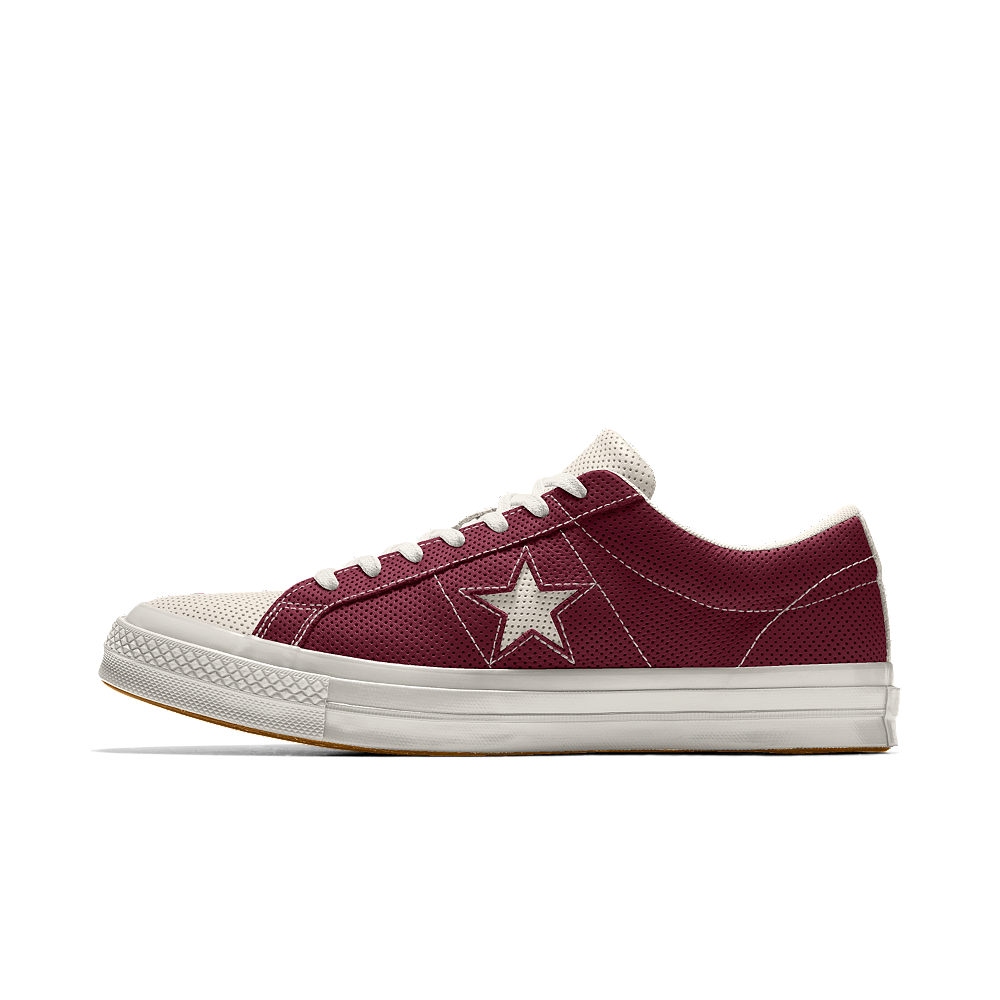 ... italy converse custom one star all over perforated leather low top shoe  size 4 cream 0a3b3 ... 9eede46ee