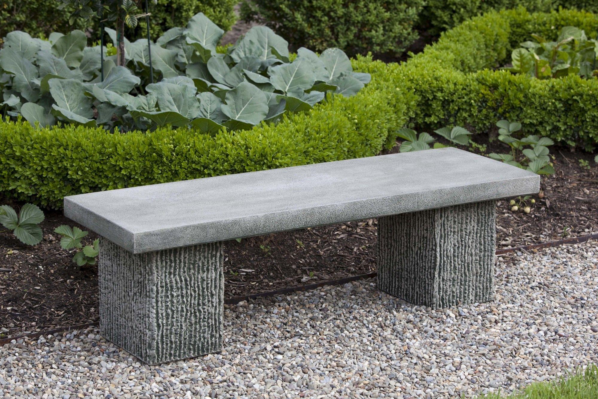 Reef Point Cast Stone Garden Bench Stone Garden Bench Outdoor