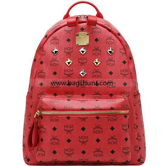 9d9ee7b0c7b1e0 MCM medium visetos stark backpack Red 2016 Shop Sale | My designer ...