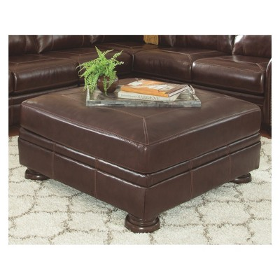 Banner Oversized Accent Ottoman Coffee Signature Design