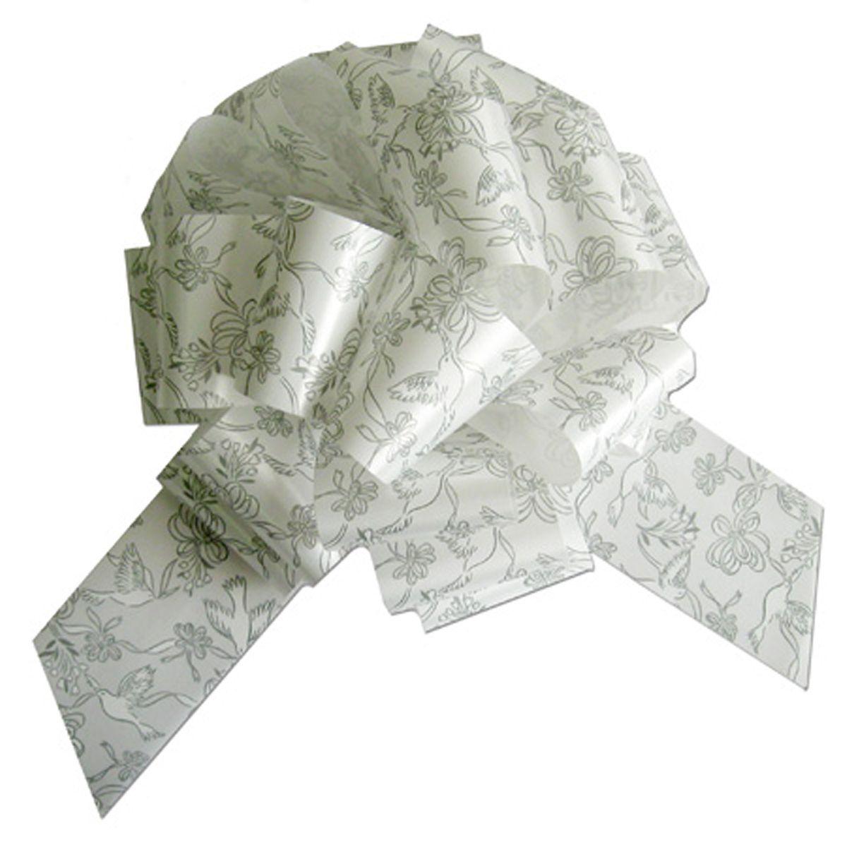 "Wedding Dove #Bow 8"" (White/Silver) Perfect Bow #perfectbow #weddingbow #silverandwhite #wedding #weddingpackaging #weddingsupplies #weddingdove  https://www.midatlanticpackaging.com/Content/Images/Product/PPF4WSD.jpg"
