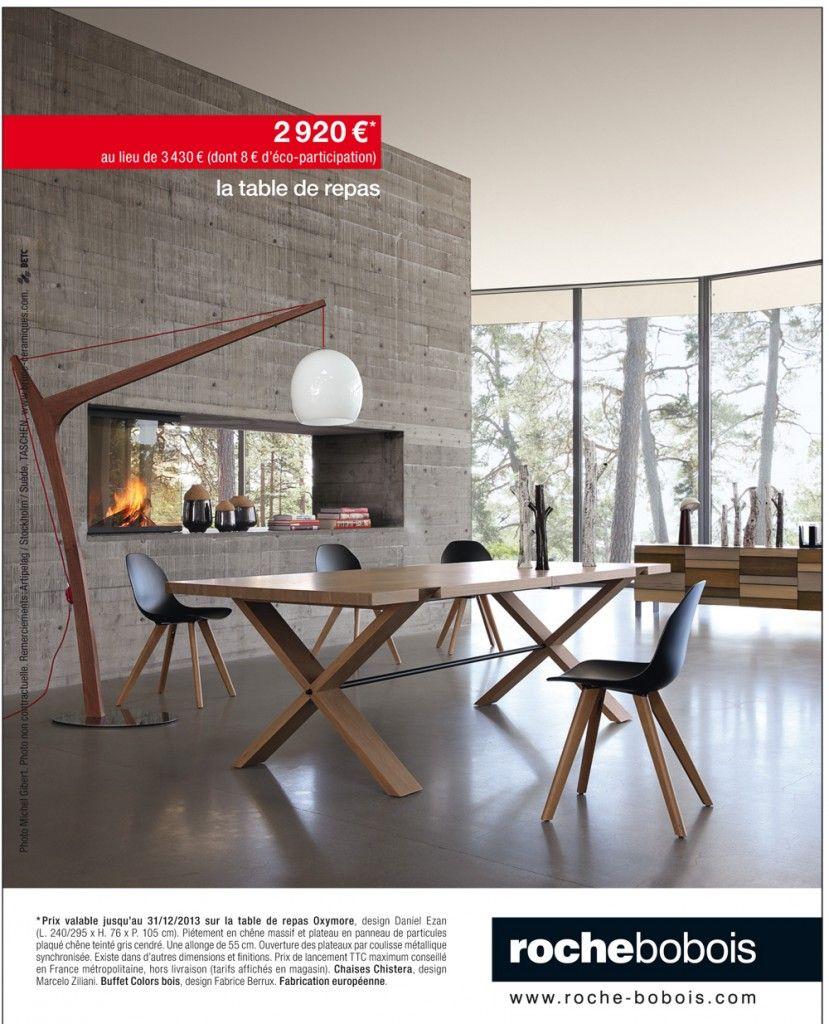 table de repas oxymore par roche bobois village du. Black Bedroom Furniture Sets. Home Design Ideas