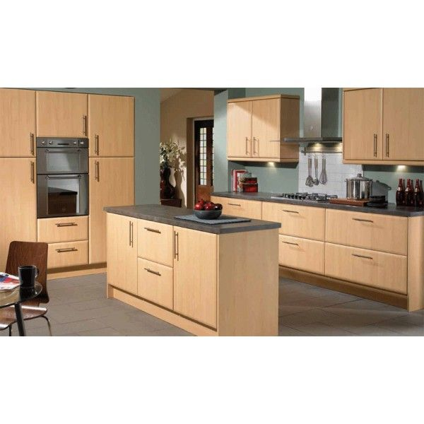Repainting Kitchen Cabinet Doors: Slab Saponetta Beech Contemporary Kitchen Doors/Units In