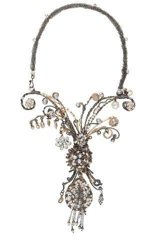 Multi filamento collana con perline Seed, White Lotus ™ Perle perle coltivate d'acqua dolce e argento sterling filo - Fire Mountain Gems and Beads