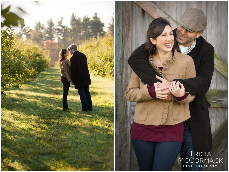 Jenaye & Joe's Engagement Session at Riiska Brook Orchard - Berkshire MA - Tricia McCormack Photography