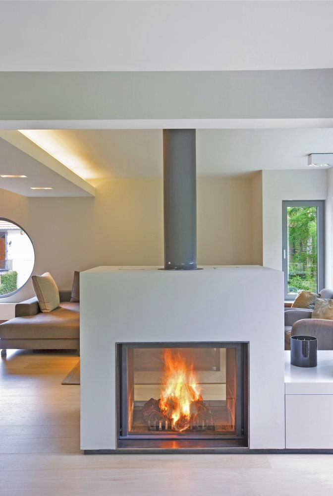 Wanders Square tunnel double sided insert stove, Wanders stoves UK ...