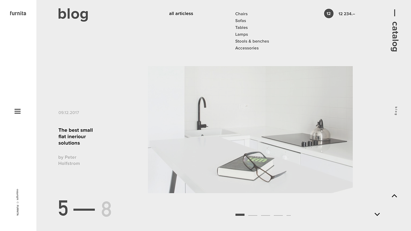 furnita — web on Behance | Interactive Design | Pinterest | Behance ...