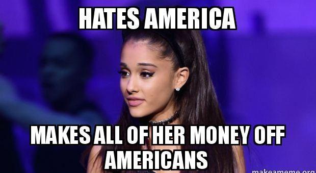 Why does celebrity star, Ariana Grande, hate America too ...