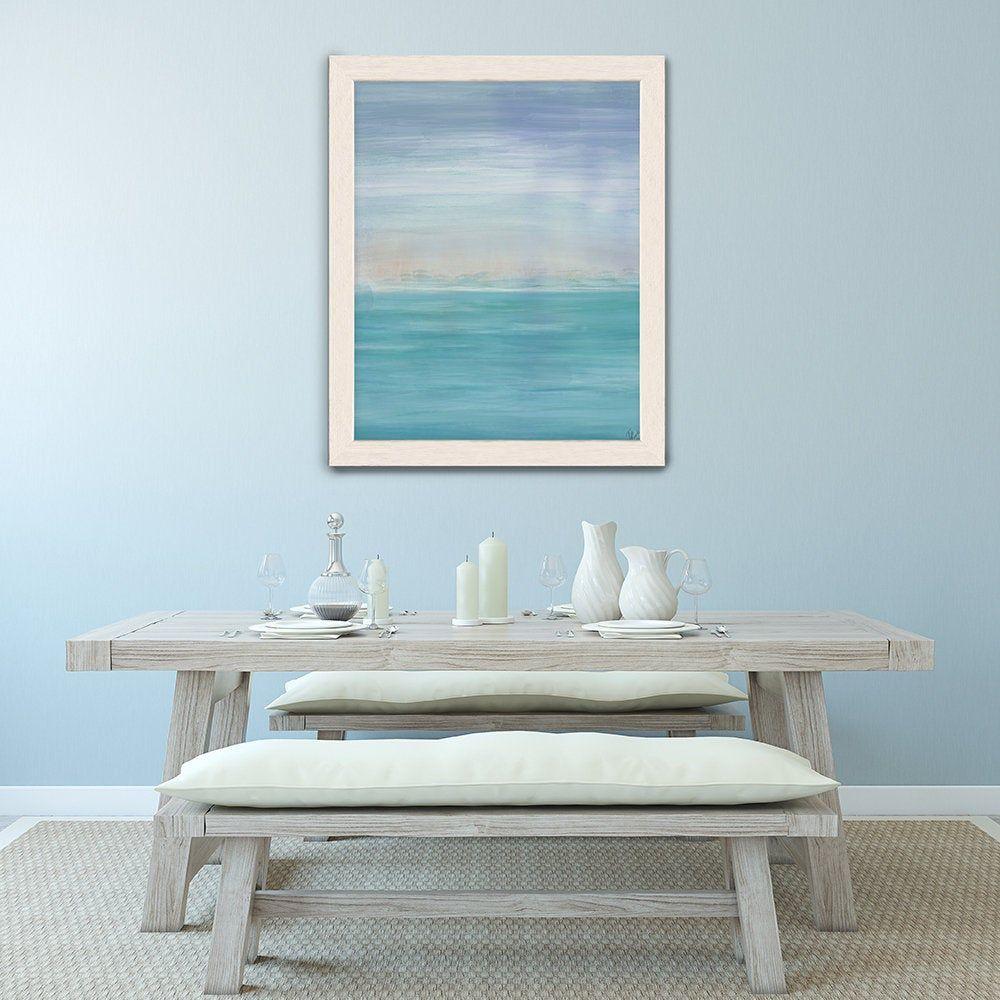 Modern Abstract Watercolor Painting Pastel Canvas Art Coastal