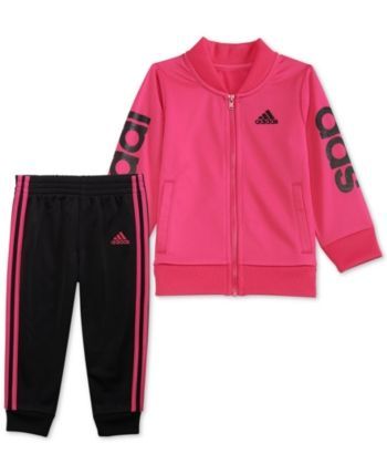 ccac5ee6a adidas Baby Girls 2-Pc. G-Love Track Jacket & Jogger Pants Set - Pink 24  months