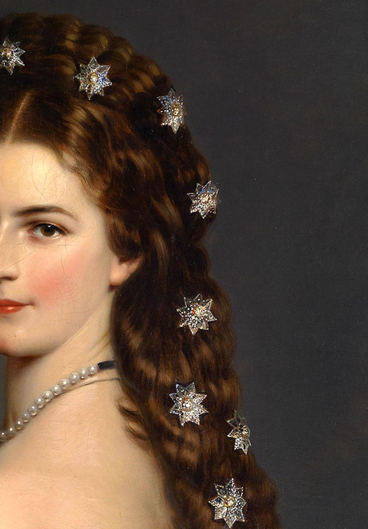 Empress Elisabeth of Austria in Courtly Gala Dress with