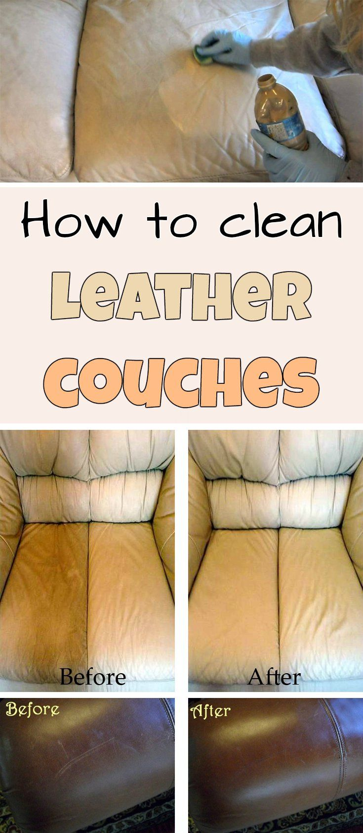 How to clean leather couches myCleaningSolutionscom Clean
