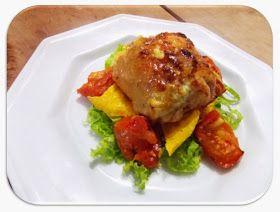 Garfo Publicitário | Blog de Gastronomia e Culinária: Sobre-Coxa de Frango Desossada Recheada Com Lombo Canadense, Mussarela e Tomate