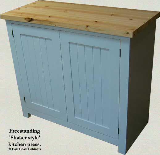 Shaker Style Kitchen Island Free Standing Kitchen Cabinets