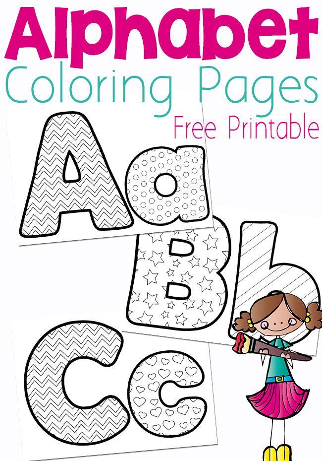 Free Alphabet Coloring Pages | Páginas para colorear, Alfabeto y ...