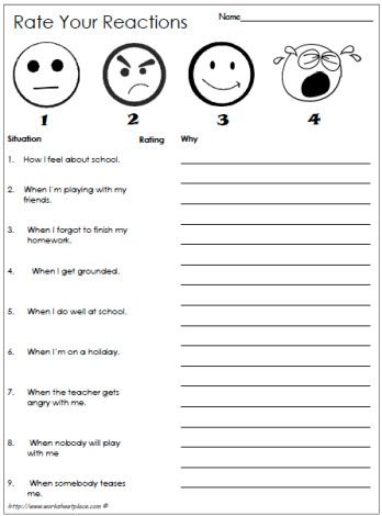Rate Your Reactions | teaching/counseling kids | Pinterest ...