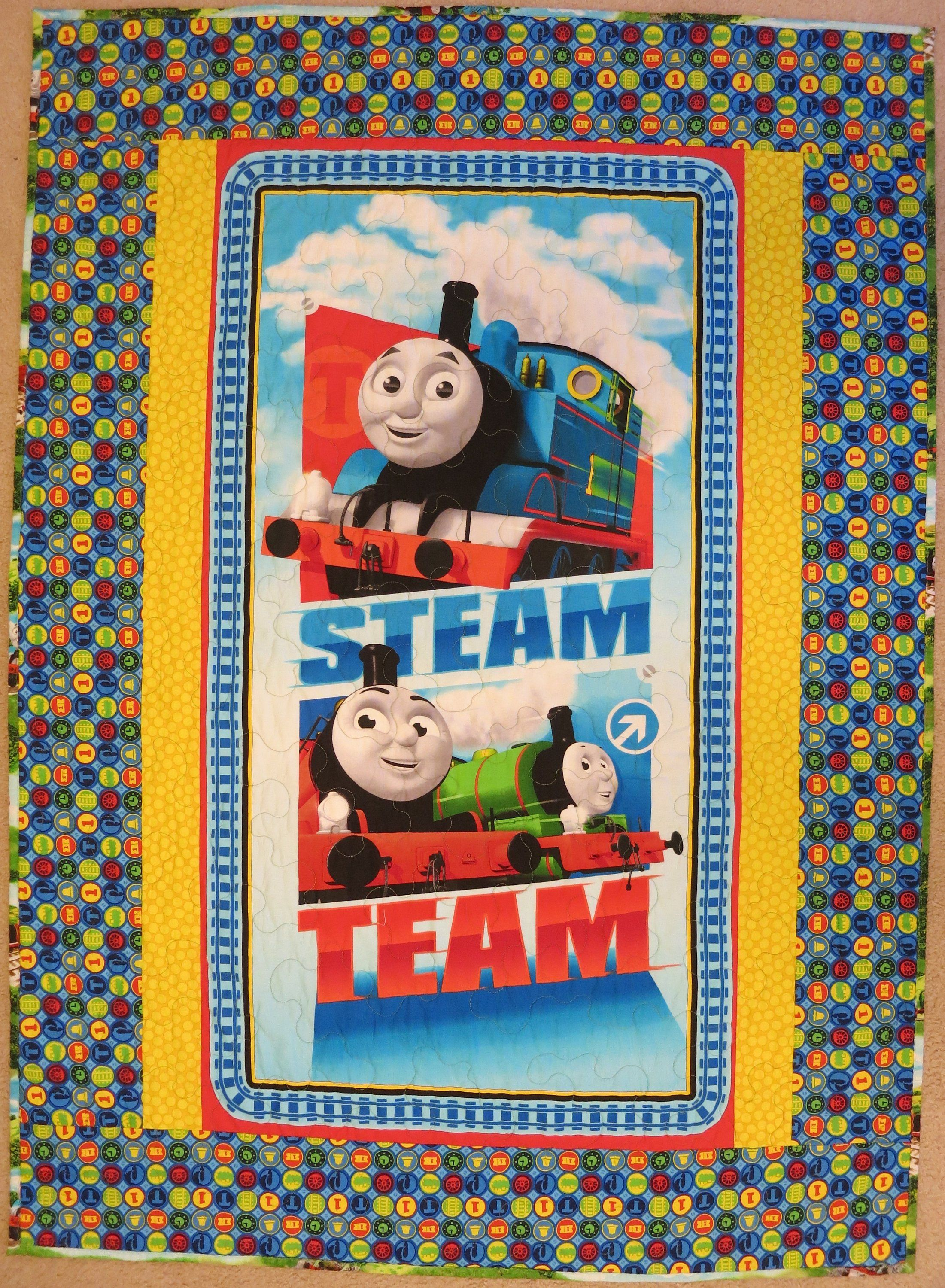 Thomas the Train quilt, blanket, baby bedding, toddler