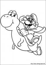 Super Mario Bros coloring pages on ColoringBookinfo coloring