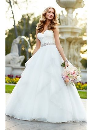 2015 Fall Elegant Ball Gown Sweetheart Empire Bridal Gowns with ...