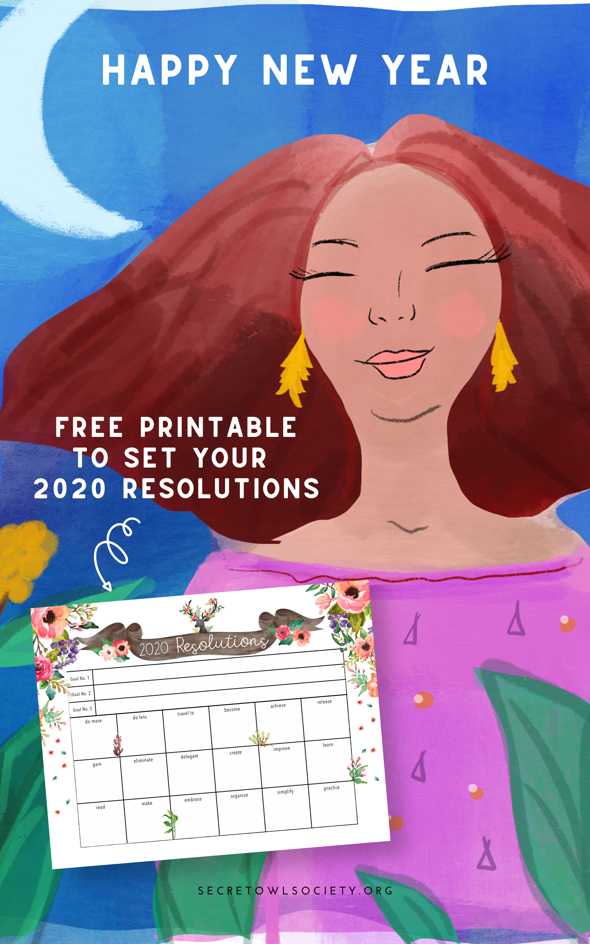 Free printable to set your resolutions for the new year