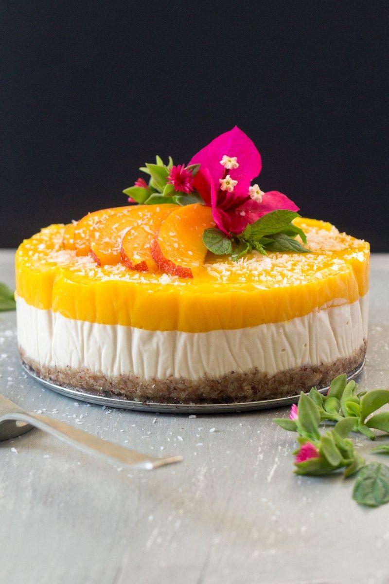 Vegan Mango And Ginger Cheesecake