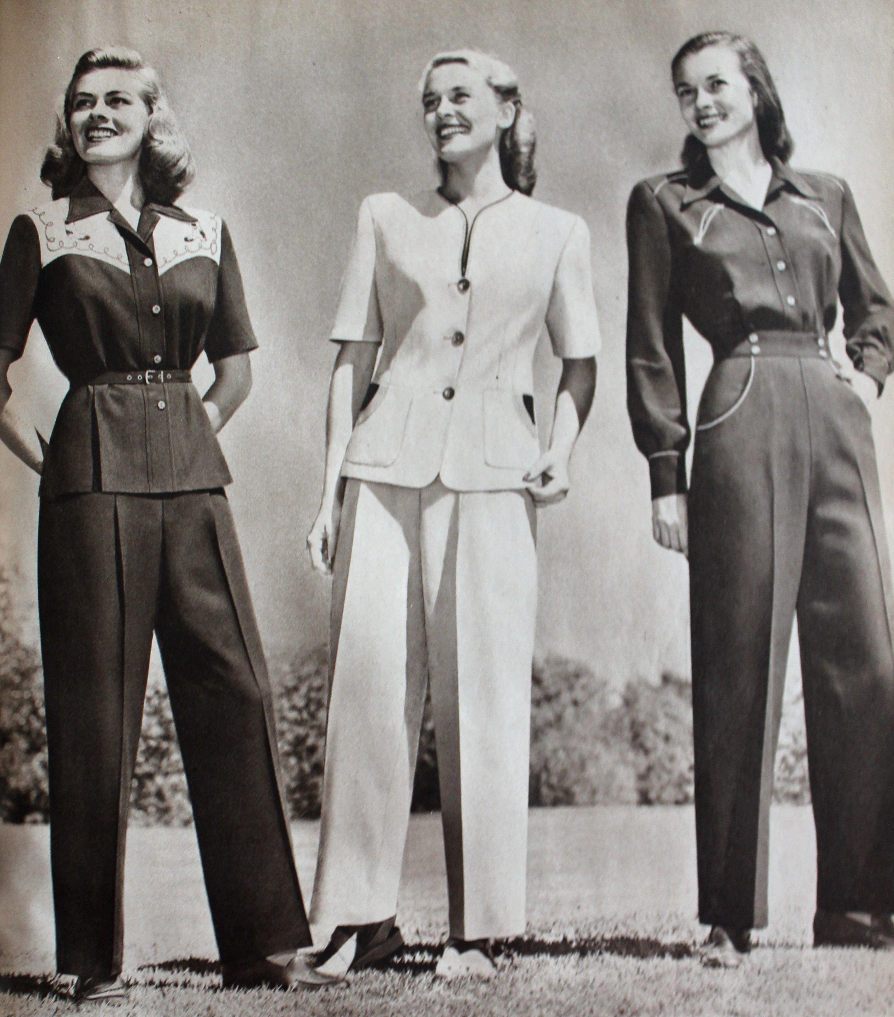 392a6c4edfa 1940s Ladies Workwear Clothes- Rosie s to Nurses