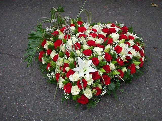 fleur en coeur pour deuil | deuil | pinterest | deuil, coeur et fleur