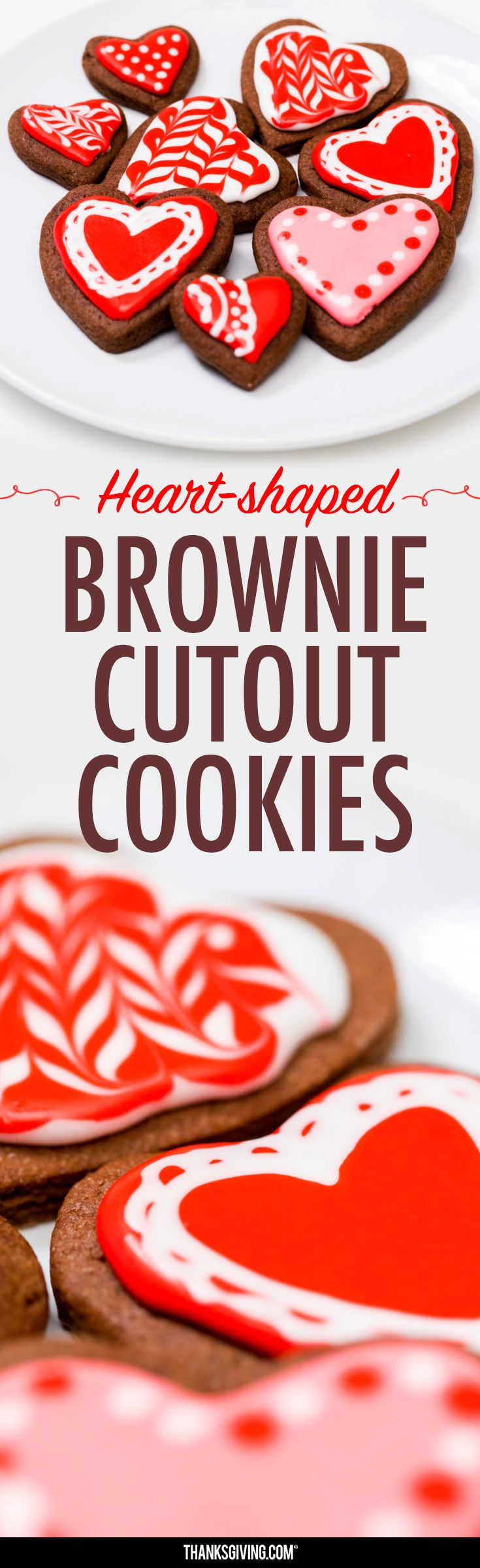 Heart-Shaped, Brownie Cut-Out Cookies for Valentine's Day - Thanksgiving.com