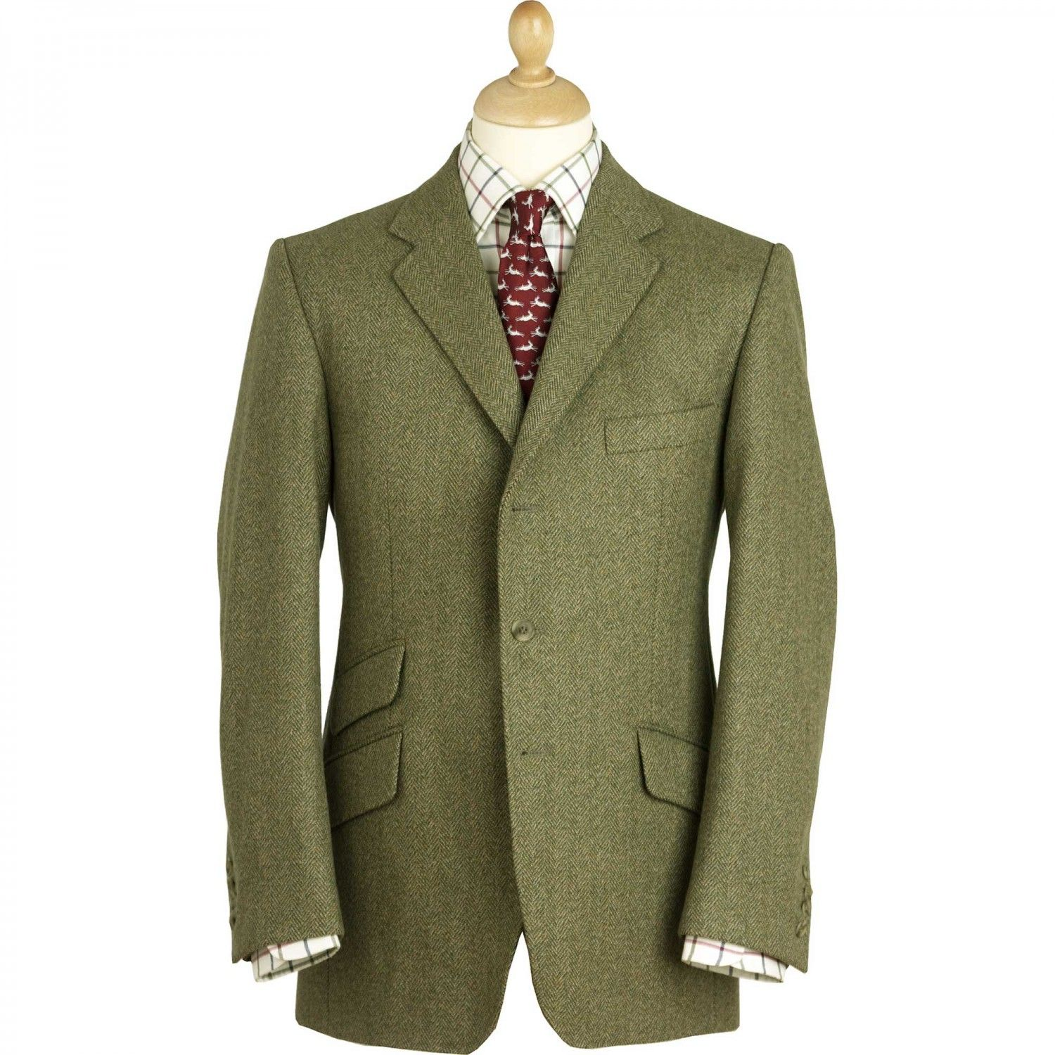 3 Piece Windowpane Check Tweed Wedding Suit. For more tweed suits