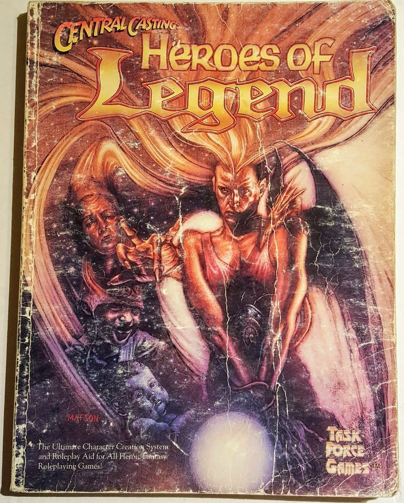 Central Casting Heroes of Legend 2nd Edition Roleplaying