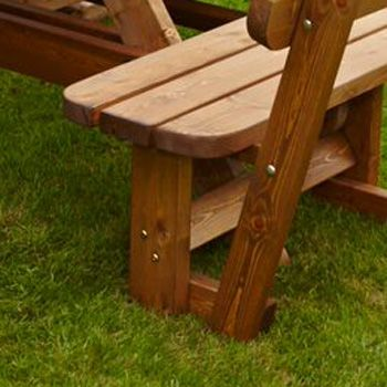 Anchor Fast Seater Pine Wood Picnic Bench Garden Furniture - Picnic table anchors