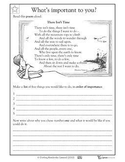 Poems: setting goals - Worksheets & Activities | GreatSchools ...