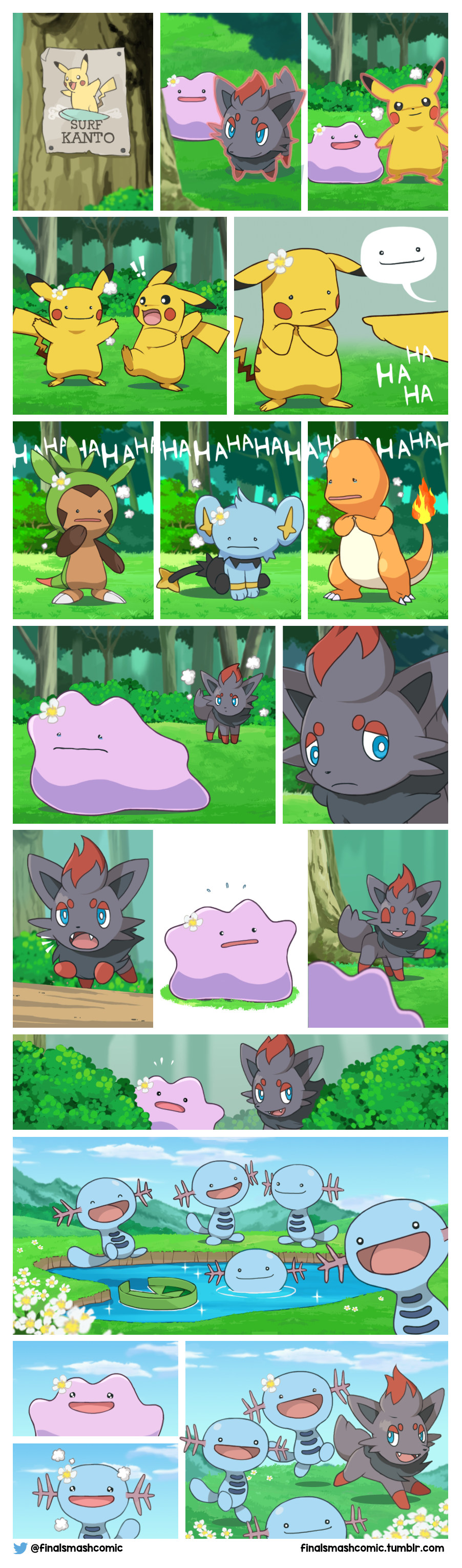 The tale of Zorua and Ditto! (OC comic)