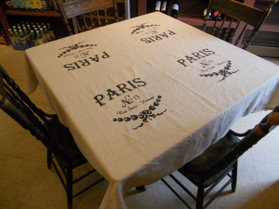 Custom made to order tablecloths by www.GreenMountainBoHo.com