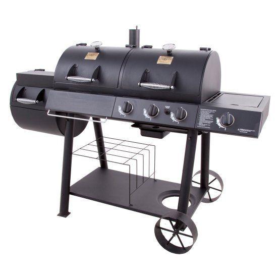 Char Broil Oklahoma Joes Charcoal Gas Grill And Smoker Combo