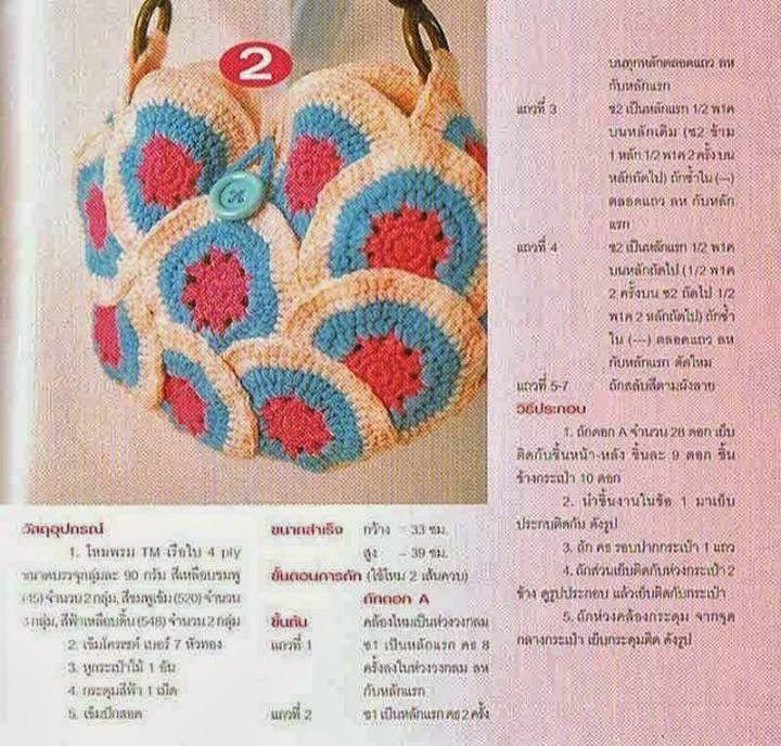 Bolso con Circulos Granny de Crochet Patron - Patrones Crochet ...