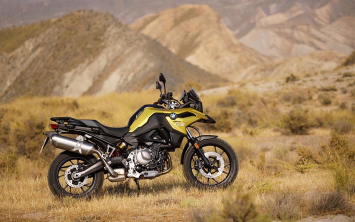 Download Wallpapers BMW F750 GS, 4k, Offroad, 2018 Bikes