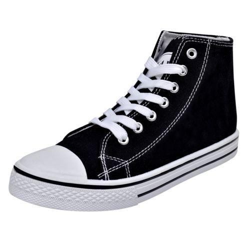 2432f1b0dd12 Damen High Top Sneaker Sportschuhe Turnschuhe Freizeit Schnür Schuhe Gr. 36   S
