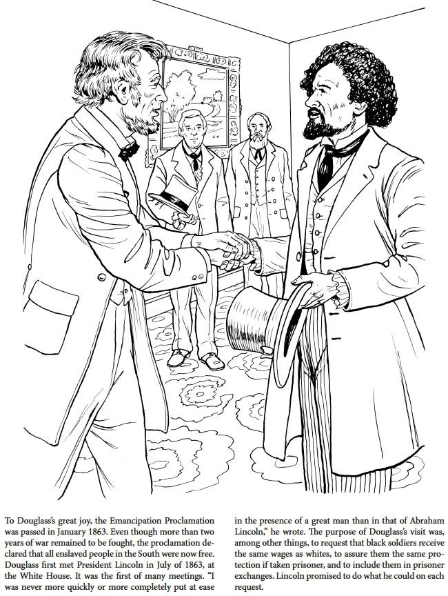 Frederick Douglass Coloring Book Dover Publications | Coloring the ...