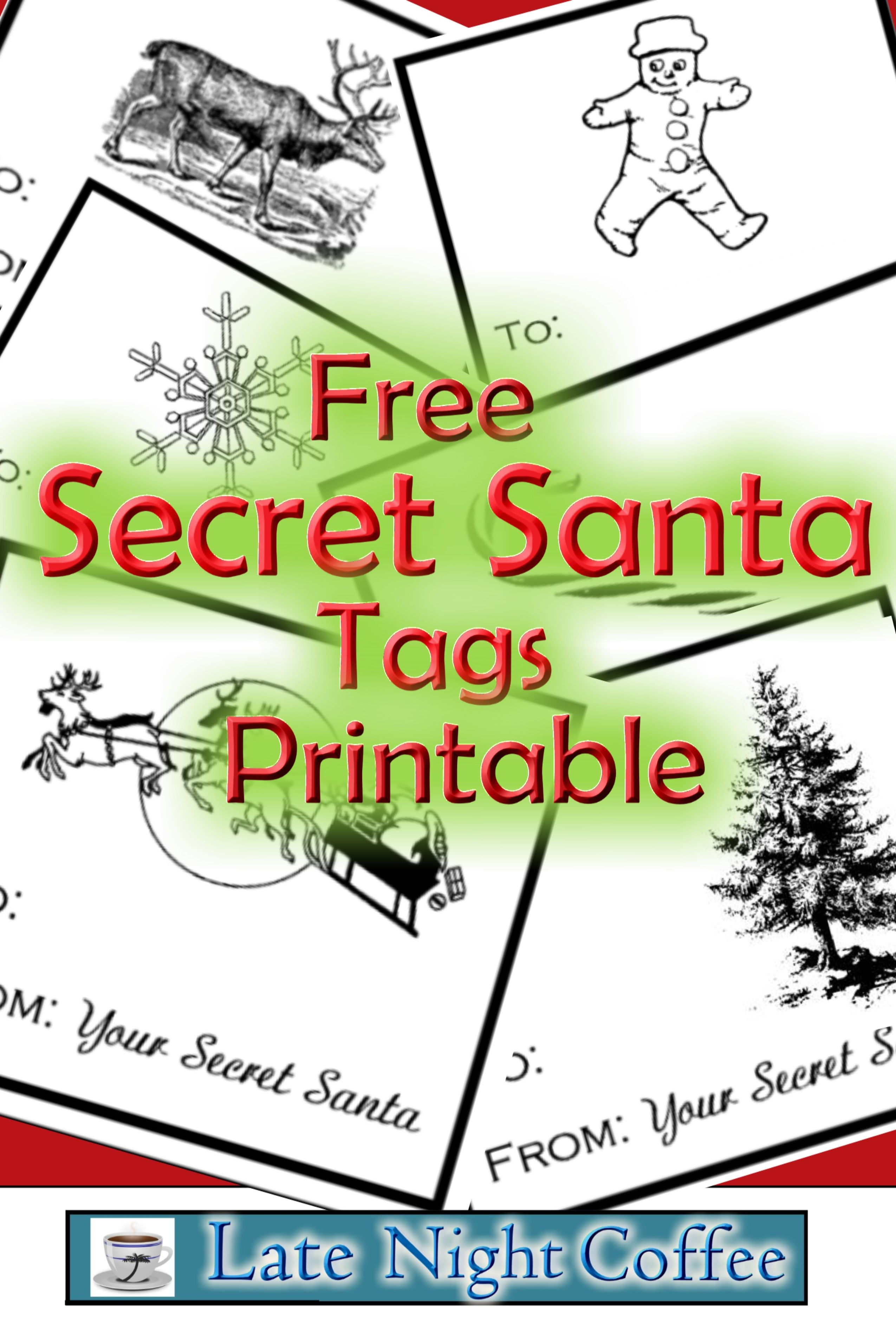 Secret Santa Tags Printable Free Highschoolherd Com Secret Santa