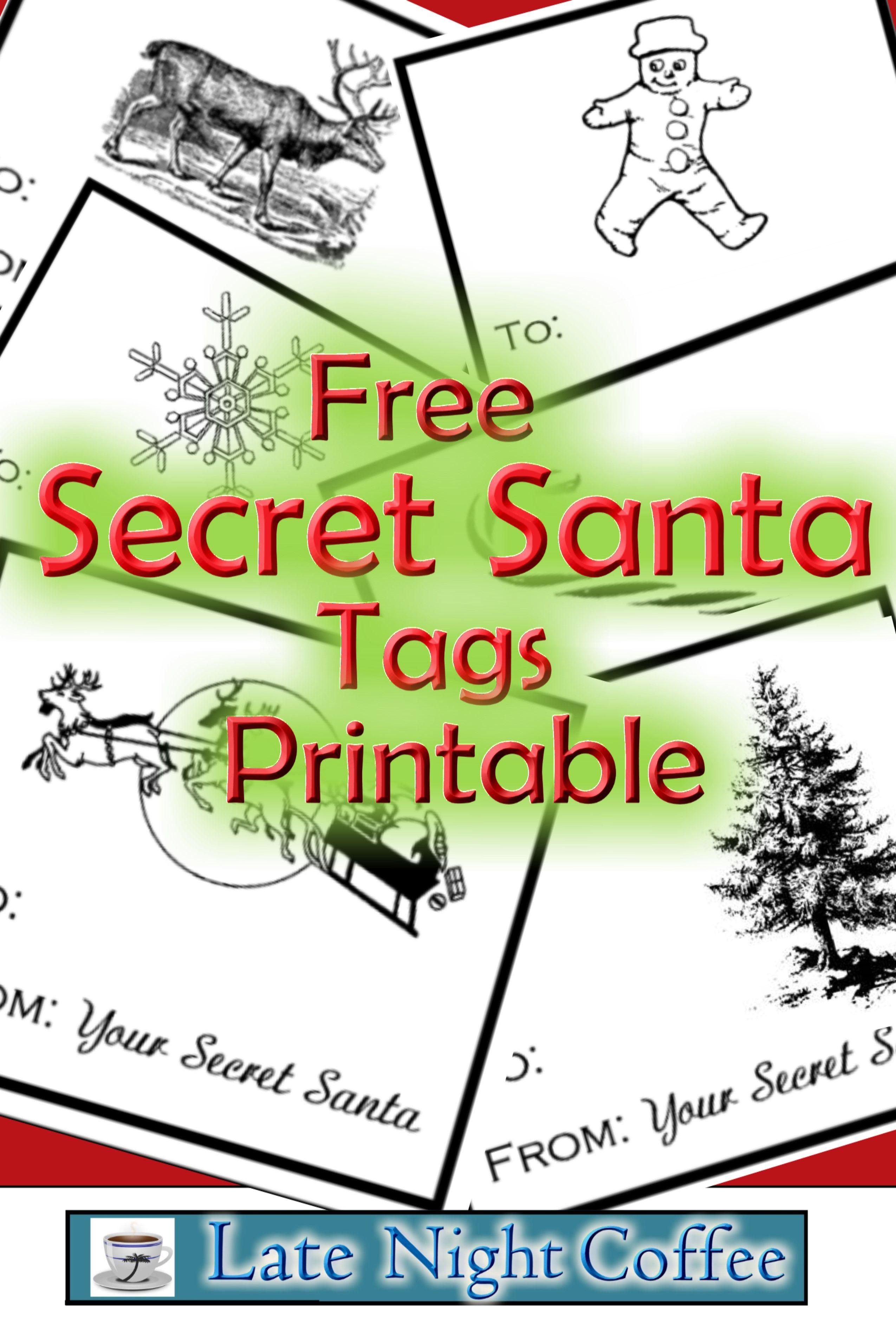Secret Santa Tags Printable Free