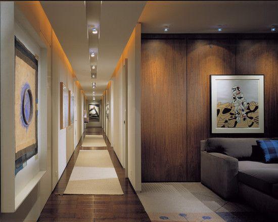 modern wooden corridor design ideas