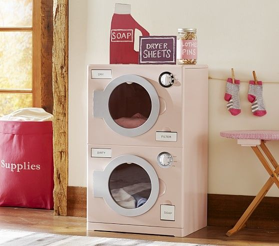 Retro Washer Dryer Kids Play Kitchen Pottery Barn Kids Kitchen Sets For Kids
