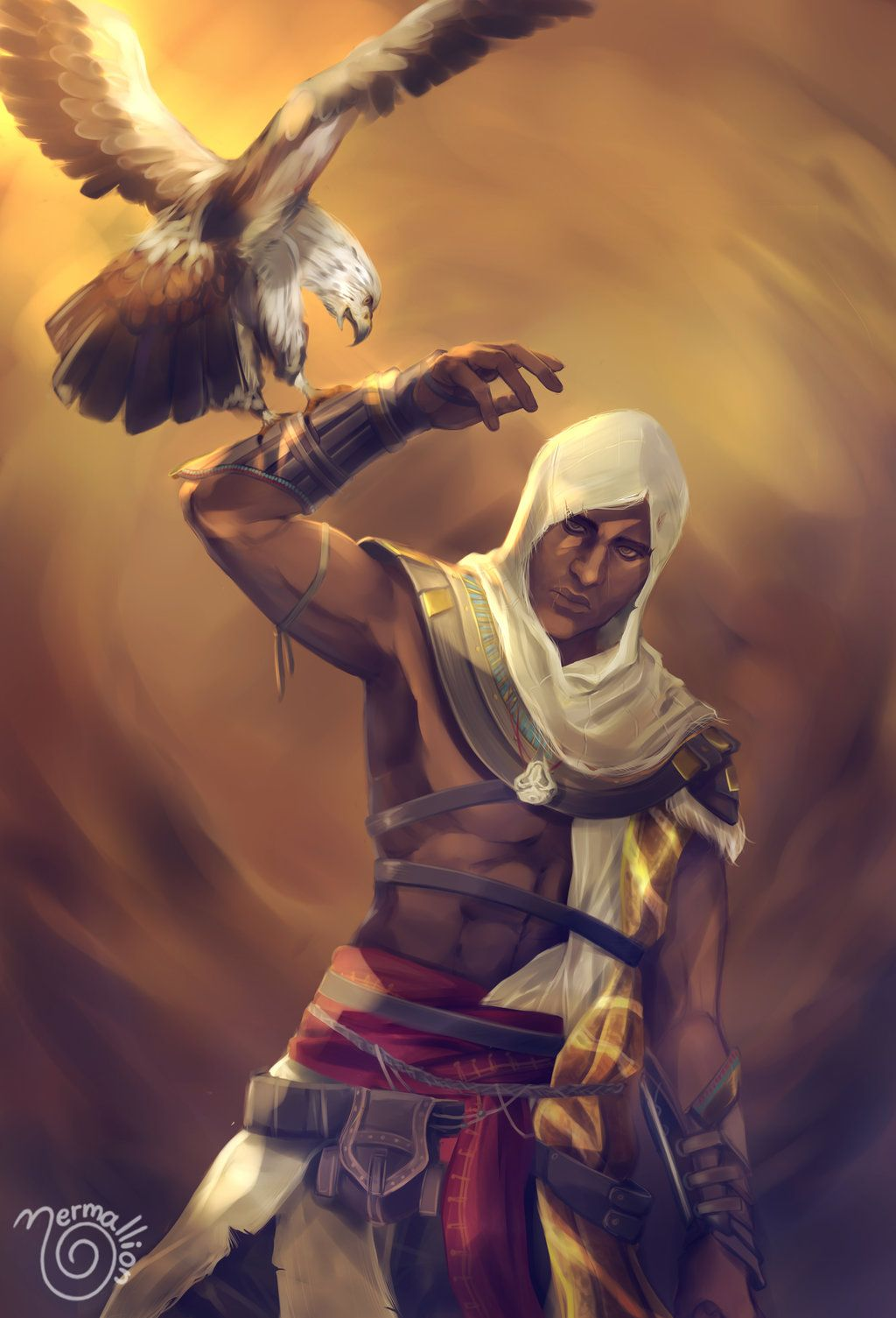 Bayek By Nermallion Assassins Creed Artwork Assassins Creed Art Assassin S Creed